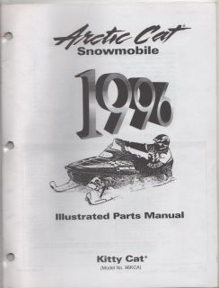 1996 ARCTIC CAT SNOWMOBILE KITTY CAT ILLUSTRATED PARTS MANUAL