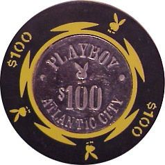 100 PLAYBOY ATLANTIC CITY CASINO CHIP