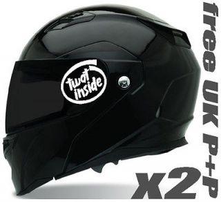 wat Inside stickers x2 for AGV Arai Shoei helmet Bell Nolan Nitro