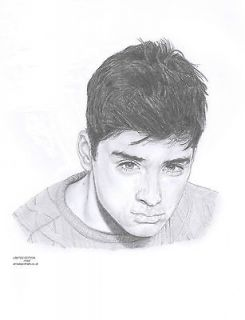 ZAYN MALIK   1D   One Direction   Limited Edition pencil art drawing