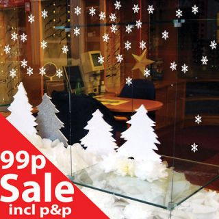 Christmas Snowflakes Decoration Wall Stickers Wall Art Wall Decals