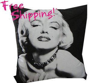 NEW BLACK MODERN ART Marilyn Monroe POP ART PILLOW DECORATIVE PILLOW