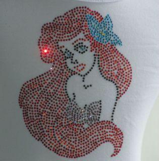 2T 3T 4T 5T 6/6X 8 10 12 ARIEL Little Mermaid Disney rhinestone T