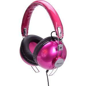 Hipster 702 Channel Recording Studio Equipment DJ Headphones Hot Pink