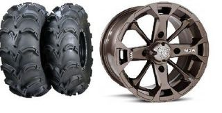 Bronze 14 ATV Wheels 28 Mud Lite XL Tires Suzuki King Quad (4