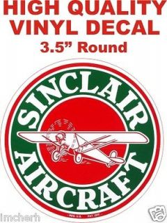 Vintage Style HC Sinclair Aircraft Gasoline Fuel Motor Gas Pump Decal