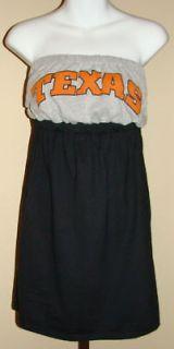 University Texas Game Day Dress Strapless T Shirt Sz S