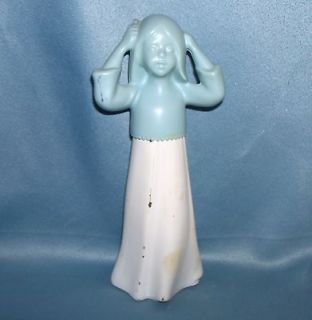 Avon Decanter Bottle   Little Girl Dressed in Nightgown Brushing Hair