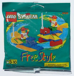 FREESTYLE PARTS & TIMMY MINIFIG 4239 Bricks/Plates for boat car plane
