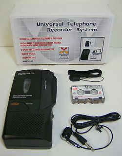 Phone Calls Voice Activated Micro Cassette Tape Recorder 2 speed NEW