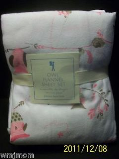 PoTTerY BaRN KiDs OWL QUEEN Flannel Sheet Hayley Haley Girl Bedroom