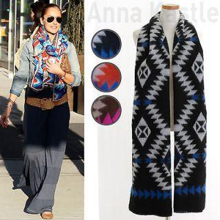 Annakastle New Womens Tribal Aztec Print Shawl Wrap Blanket Long Scarf