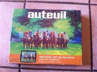AUTEUIL great french vintage horse racing simulation game RARE & great