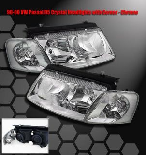 1997 2000 VW PASSAT B5 CRYSTAL HEAD LIGHTS +CORNER 1999 (Fits