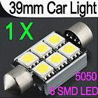 5050 LED Pure White Car Festoon Interior Dome Light Lamp Bulb DC 12V