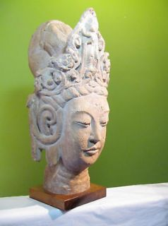 Mid Century Asian Female Goddess Diety Bust Austin Prod Art Sculpture