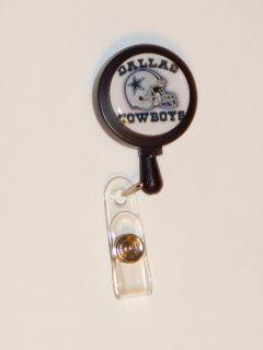 Dallas Cowboys ID Name Reel Retractable badge Holder