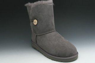 UGG Australia Bailey Button Kids Boots Grey 5991