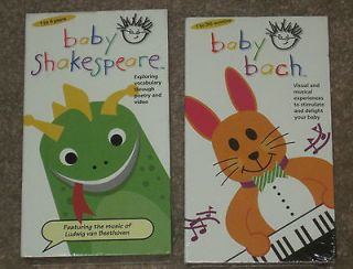 BABY EINSTEIN Lot 2 VHS~Baby Bach/Baby Shakespeare~NE W/SEALED!