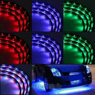 LED Under Car Glow Underbody System Neon Lights Kit 48 x 2 & 36 x 2