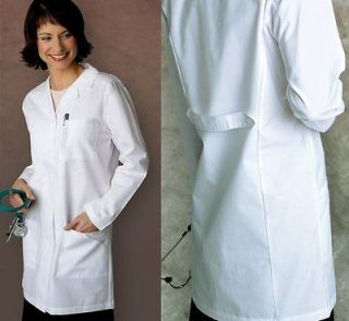 36 White Slim Fit Medical Nursing Doctors Lab Coat Jacket Uniform NWT