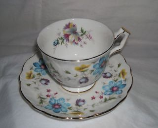 Aynsley Est 1775 England Fine Bone China Cup & Saucer Set Floral