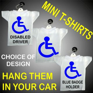 Shirts Driver,Blue Badge Holder,Logo,Mobility,Hang in Car Window