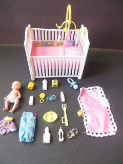 mattel Barbie baby Krissy , crib & accessories