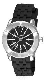 Azzaro Mens Coastline Black Dial Black Rubber Strap Watch AZ2200.12BB
