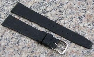 NOS Stylecraft GENUINE EMU Watch Band BLACK Strap Made in CANADA #251