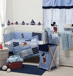 PIECE DISNEY MICKEY MOUSE BABY CRIB BEDDING COT SET RRP $250.00