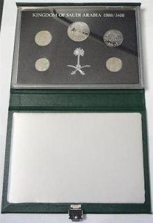 1988 SAUDI ARABIA, PROOF SET, 5 COINS, LOW MINTAGE 5,000