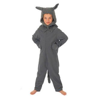 Children's Boys Girls Big Bad Wolf Fancy Dress Up Costume Book Week
