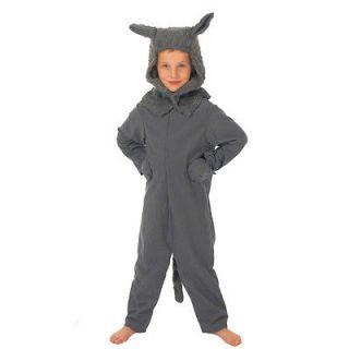 Children's Boys Girls Big Bad Wolf Fancy Dress Up Costume Book Week