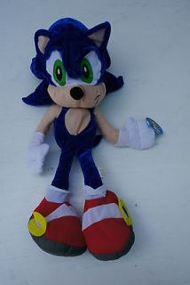 Toy Network Sonic Hedgehog Character Toy Blue Tan Red Shoes Soft Plush