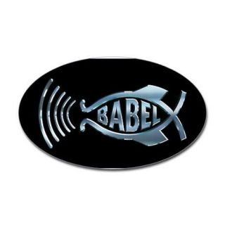 Hitchhikers Guide To The Galaxy BABEL FISH Icon Oval STICKER Decal