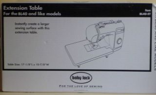 New Baby Lock Sewing Machine Extension Table for BL40 and LIke Models