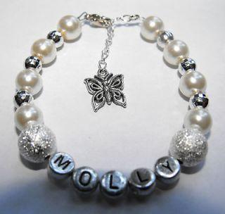 Ladies Personalised Any Name Hello Kitty / Bridesmaid Charm Bracelet