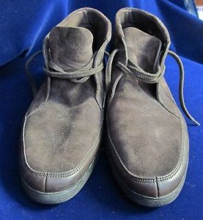 Mens SUNNY SIESTAS by BALLY Dark Brown Suede Shoe Boots Size 13M
