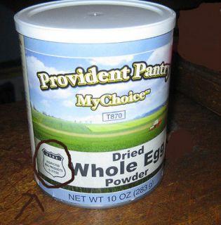 NIP 10 oz Dried WHOLE EGG Powder PROVIDENT PANTRY MyChoice IN STOCK