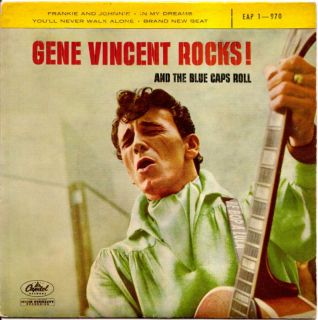 RARE GENE VINCENT ROCK AND ROLL FRENCH 50S EP CAPITOL