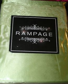 Rampage Lime Green Satin & Lace Queen Sheet Set SHINY NEW