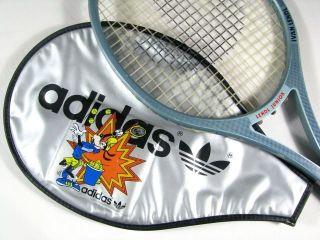 vintage ADIDAS LENDL JUNIOR wooden Tennis RACKET 80s racquet rare