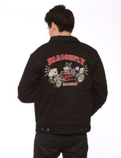 Dragonfly Wolfpack Jacket Hot Rod Wolf Embroidered Jacket Wolf Pack