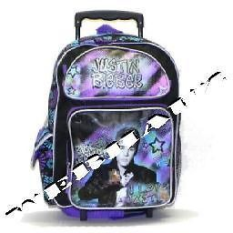 Justin Bieber Rolling backpack I Love Justin, New
