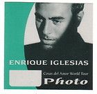 ENRIQUE IGLESIAS photo backstage Satin Cloth PASS tour collectible