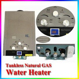 NEW TANKLESS 8L Natural Gas INSTANT HOT WATER HEATER BOILER STAINLESS