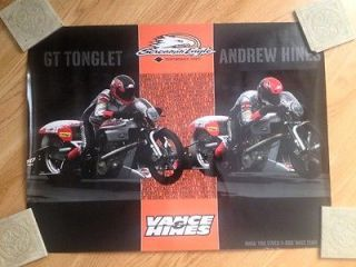 Harley Davidson VROD Screamin Eagle NHRA Drag Bike HD Poster Vance and