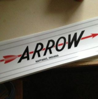 Arrow Vintage style Travel Trailer Decal Red Grey And Black 22