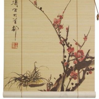 Oriental Furniture tt123Sakura Blossom Bamboo Blinds